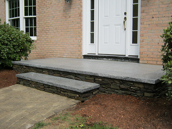 outdoor stairs and stone steps for front back yard landscaping