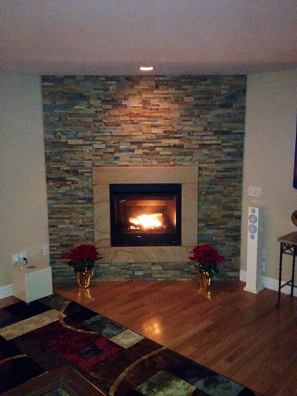 Stone Veneer (stone veneer, decorative stone) for fireplaces